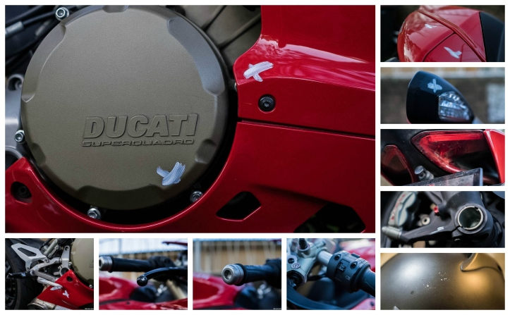2015-12-07 - Panigale damage collage 25000km