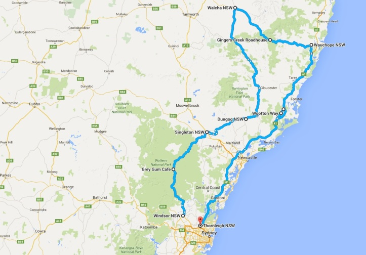 Map - 2016-04-03 - Oxley Highway