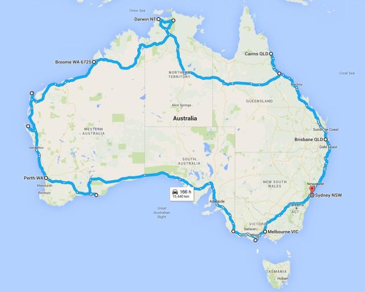 Map Around Australia.Panigale Around Australia 2016 Introduction Dave S Viewpoint