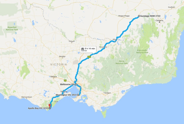 Day 2 - Map - Gundagai to Apollo Bay.jpg