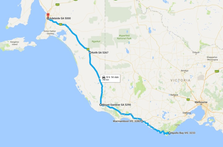 Day 3 - Map - Apollo Bay to Adelaide.jpg