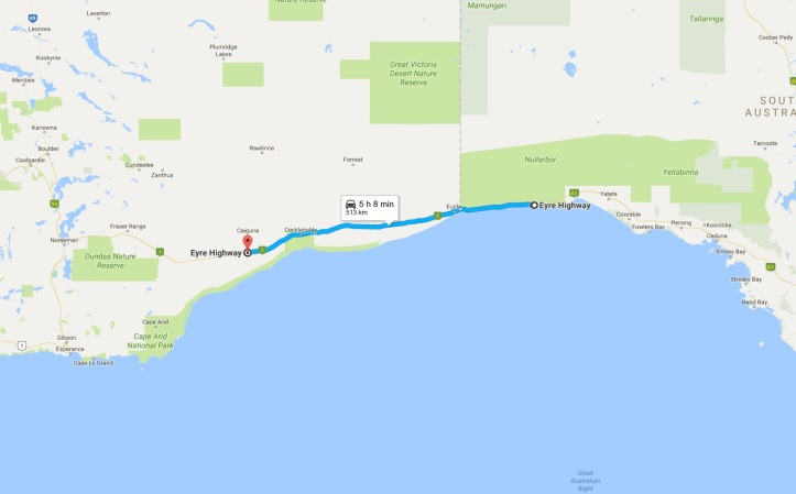 Day 6 - Map - Nullarbor to Caiguna