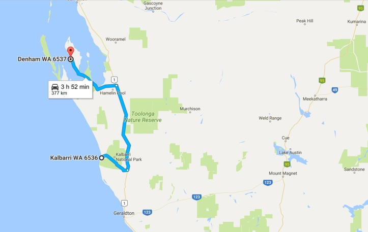 Day 10 - Map - Kalbarri to Denham.jpg