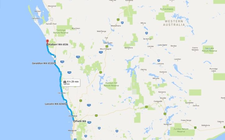 Day 9 - Map - Perth to Kalbarri.jpg