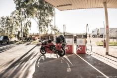 Filling up at Nanutarra Roadhouse.