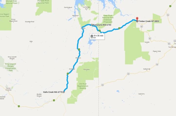 day-16-map-halls-creek-to-timber-creek