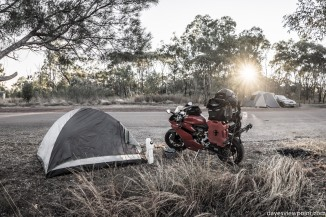 Sunrise at the campsite.