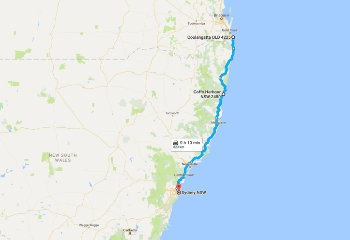 Day 25 - Map - Gold Coast to Sydney.jpg