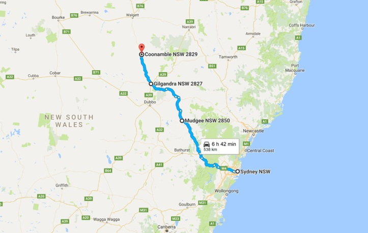 day-1-map-grom-tourer-sydney-to-coonamble