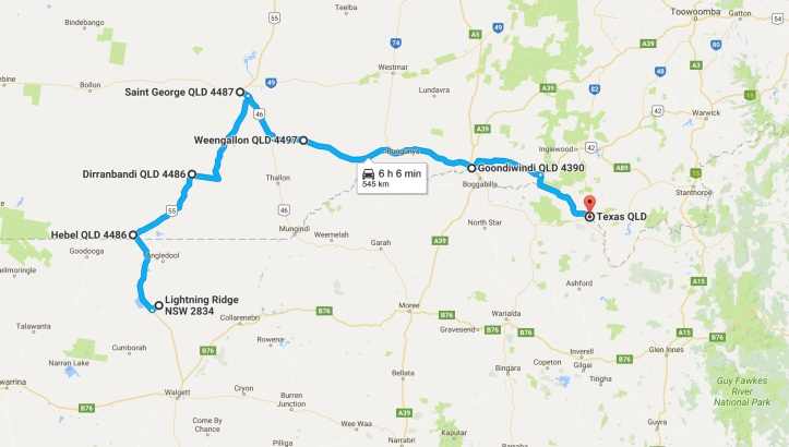 Day 3 - Map - Grom Tourer - Lightning Ridge to Texas.jpg