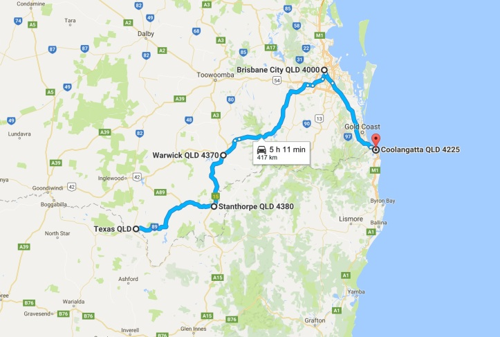 Day 4 - Map - Grom Tourer - Texas to Gold Coast.jpg