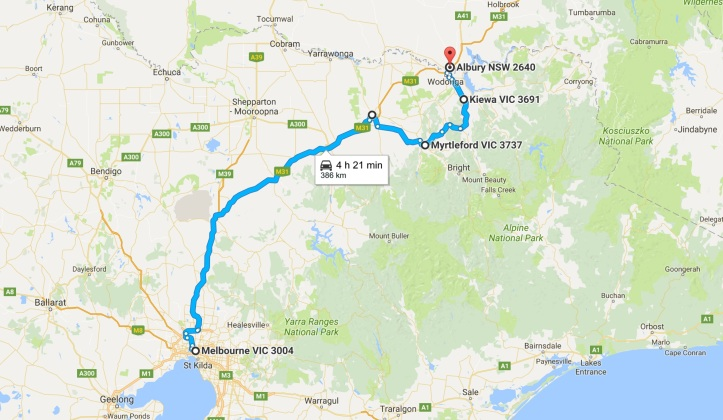 Day 7 - Map - Grom Tourer - Melbourne to Albury.jpg