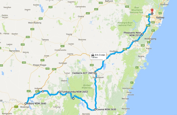 Day 8 - Map - Grom Tourer - Albury to Sydney.jpg